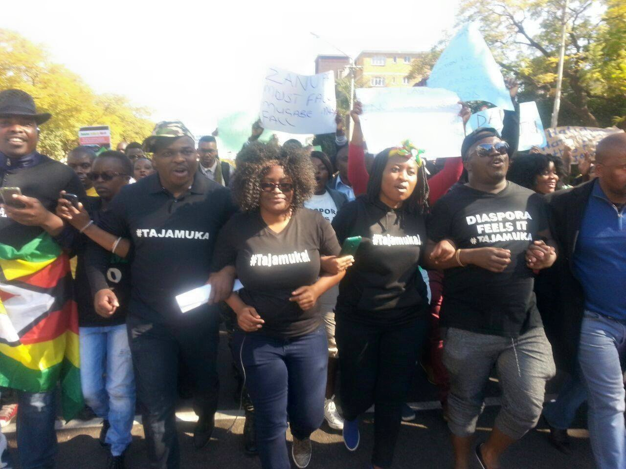 zimbabweans primarily based in south africa on wednesday took to the streets and marched to the zimbabwean embassy in south africa to name upon the federal