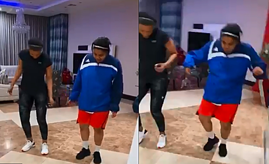 Connie Ferguson and Daughter dance to Amapiano