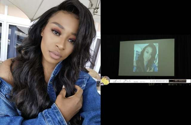 DJ Zinhle photo appears in Nelli Tembe's funeral tribute video